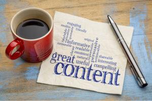 artiklar content blogg och SEO